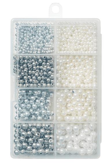 Kinetic Pearl Beads Kit Pearl/Silver
