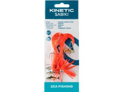 KINETIC LOADED SKIRT UV RIG #3/0 ORANGE/GLITTER