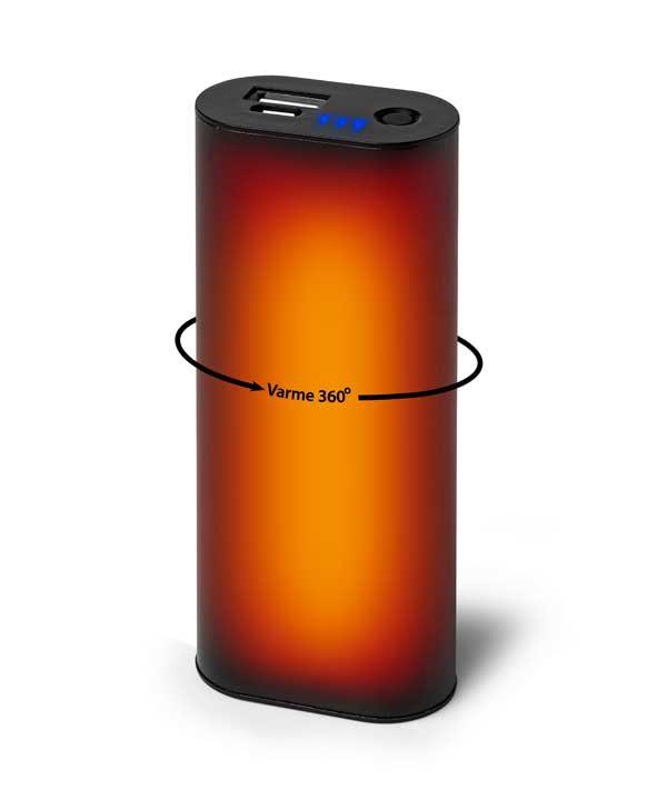 Håndvarmer med indbygget powerbank 5000mAh