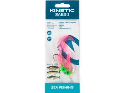 KINETIC LOADED TWISTER UV RIG #2/0 PINK GLITTER